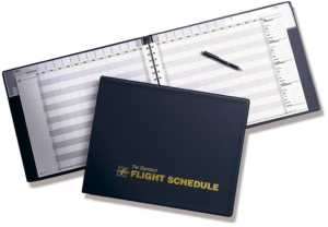 ASA Flight Schedule Binder Log