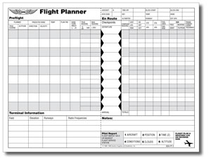 ASA FP-2 Flight Planner Log 8.5X11