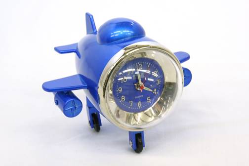 Aviation Airplane Clock Blue