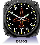 Aircraft Instrument Wall Clock - Gyro