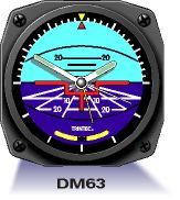 Aircraft Instrument Wall Clock - Horizon