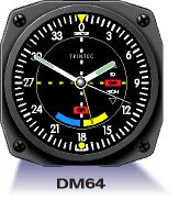 Aircraft Instrument Wall Clock - VOR