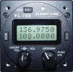 FL-760 Flightcom VHF Comm Tranceiver