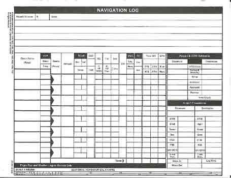 VFR Navigation Log Pad JS436183