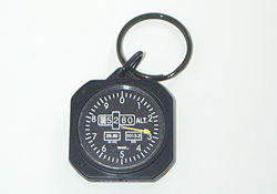 Altimeter Instrument Key Chain