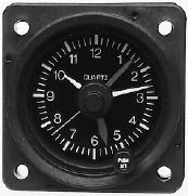 MD90 Aircraft Clock/12-32V/Non-Backlit