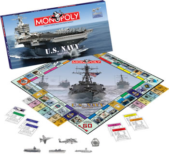 Aviation Monopoly - Navy Edition