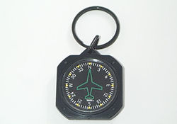 Directional Gyro Instrument Key Chain