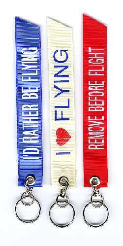 Aviation Banner Key Rings