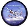 Aircraft Wall Clock - P51 Mustang