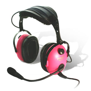 pilot usa pa 1181t pink helicopter headset