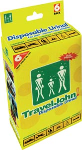 Travel John Disposable Toilet/3 pack