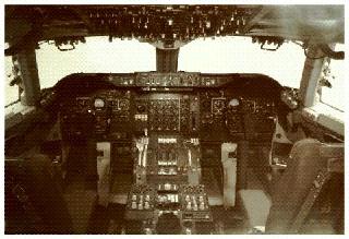 Boeing 747 Cockpit Poster
