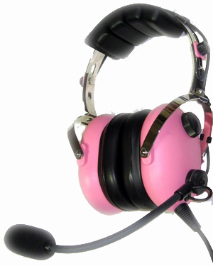 pink ladies aviation pilot headset