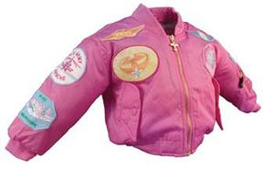 Children's MA-1 Pink Flight Jacket for Girls